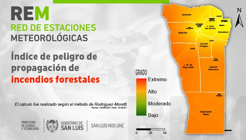 Factores que inciden en los focos ígneos: la REM pone a disposición el Índice de Peligro de Propagación de Incendios Forestales