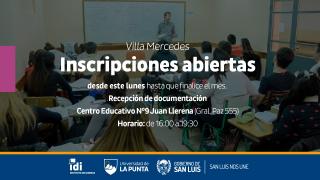"""Villa Mercedes: se recepciona la documentación para estudiar idiomas en el Centro Educativo Nº 9 """"Juan Llerena"""""""