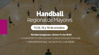 Handball: el Regional de Mayores se juega en el Campus ULP