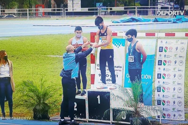 Atletismo: Tomás Páez se consagró campeón Nacional