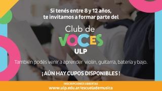 El Club de Voces y el Taller de Violín abren sus inscripciones
