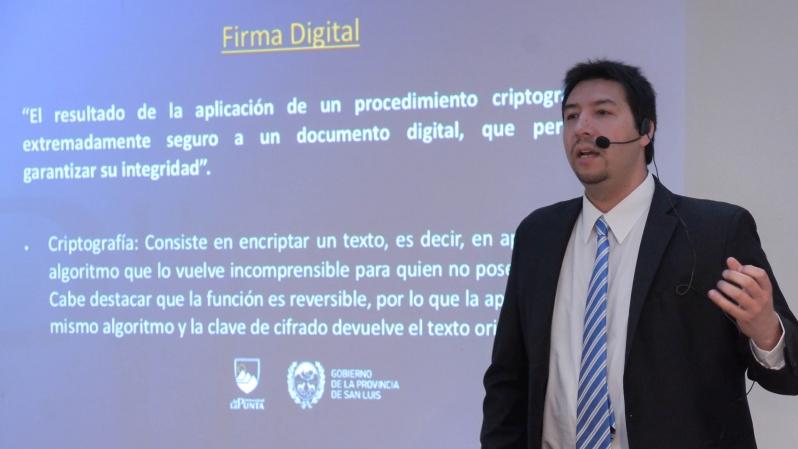 La firma digital puntana presentó sus beneficios en #SanLuisDigital