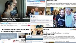 La llegada de la primera familia siria a San Luis tuvo una amplia repercusión en los medios nacionales