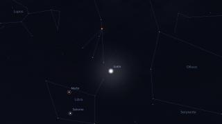 La Luna, Marte y Saturno, juntos en el cielo de San Luis