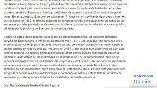 La rectora de la ULP respondió a una nota de La Nación