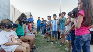 """Los niños del merendero """"Un Rayo de Luz"""" conocieron las propuestas de la ULP"""