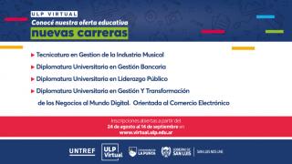 ULP Virtual: el 24 de agosto abren las inscripciones para el ciclo lectivo 2021