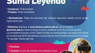 """El 10 de octubre iniciará el concurso """"Suma Leyendo"""""""