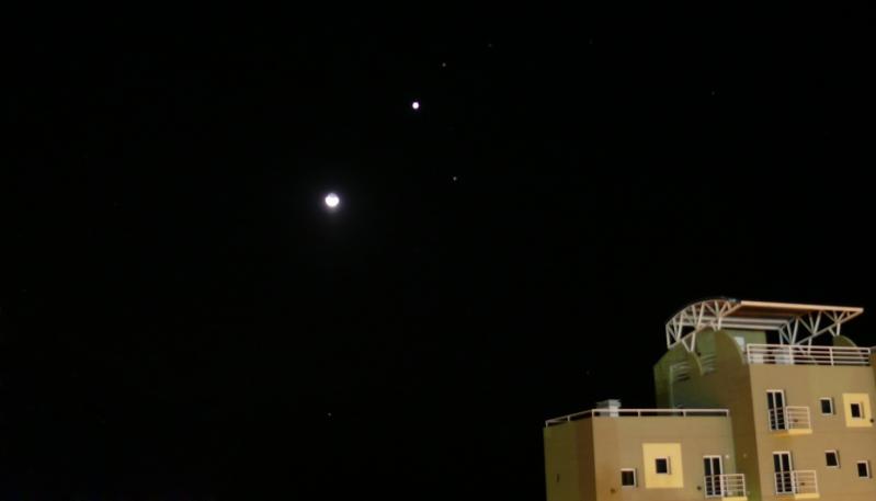 El cielo se iluminará con la conjunción de la Luna y Júpiter