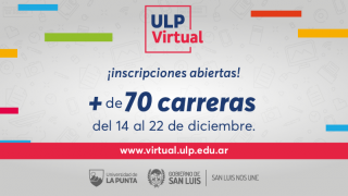 Este lunes, la ULP Virtual abre la inscripción a más de 70 carreras