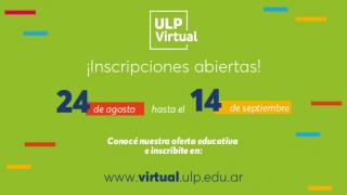 ULP Virtual: Hoy cierra el periodo de inscripciones
