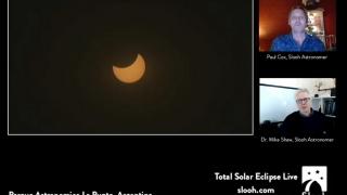 Más de 20.000 personas vieron el eclipse en línea