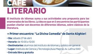 """El instituto de Idiomas de la ULP, tendrá su primer """"Café Literario"""""""