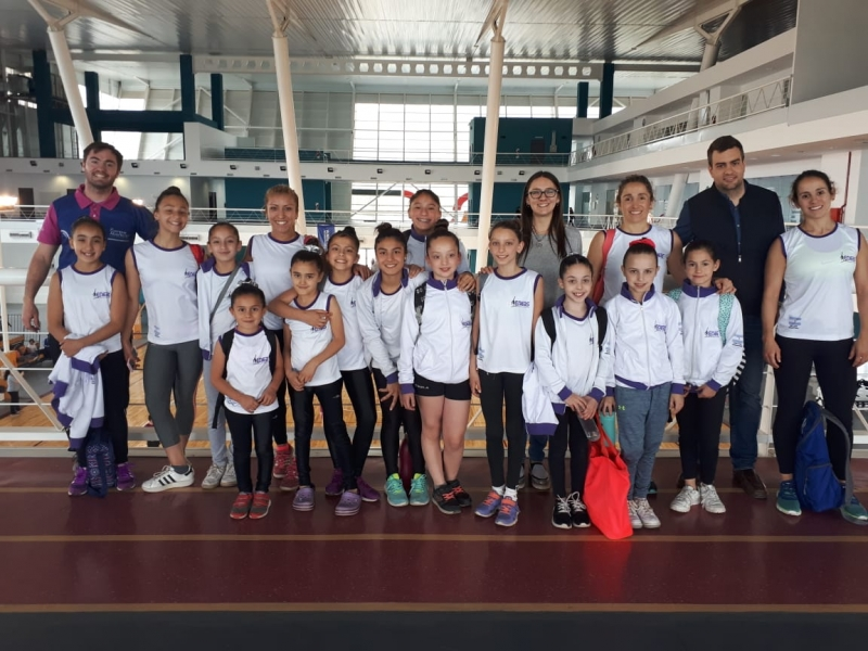 Las gimnastas de la escuela ENEAS fueron evaluadas en el Campus