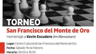 Se realizará en San Francisco un Torneo de Ajedrez en memoria a Kevin Escudero