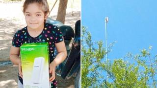 Se instalaron antenas en parajes y zonas rurales que benefician a más de 20 familias
