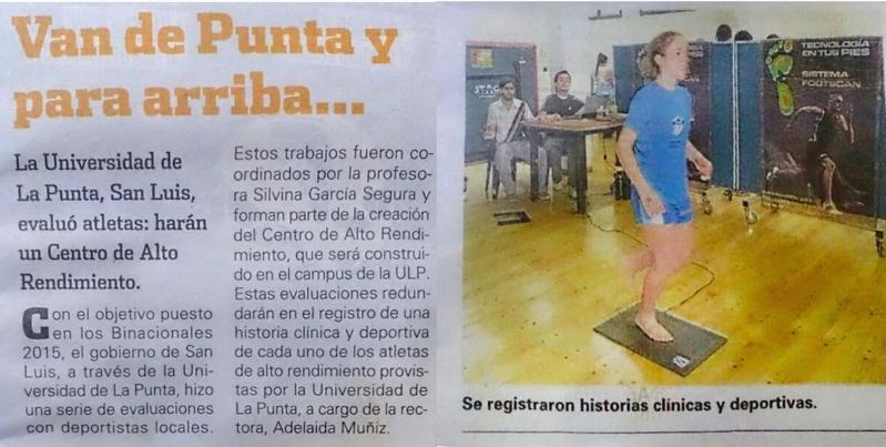 El diario deportivo Olé se hizo eco de las primeras pruebas del CARD