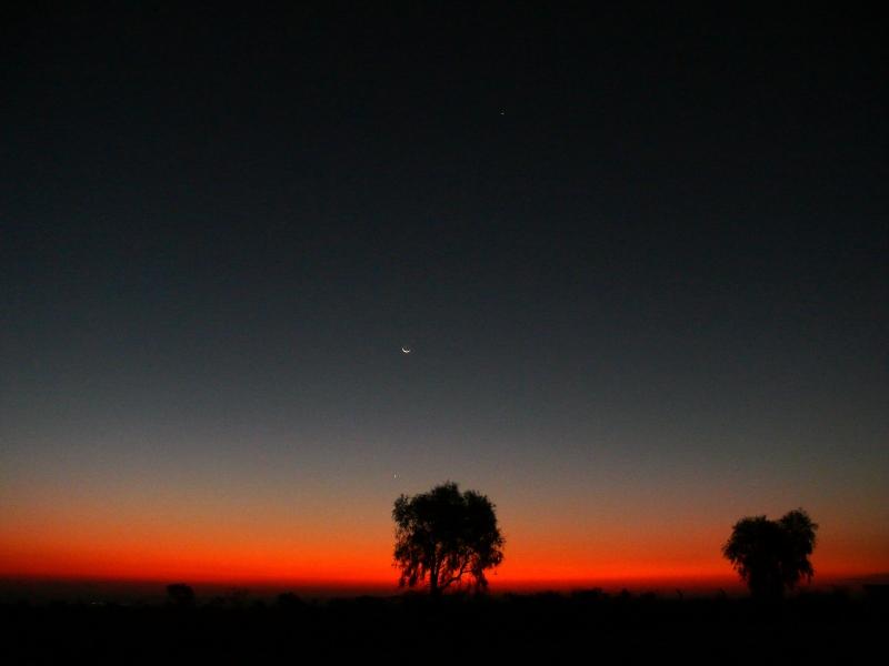 Mercurio y Júpiter juntos en el cielo