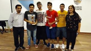 Francisco Farhat y Oriana Mora campeones del Torneo Provincial de Ajedrez sub 20