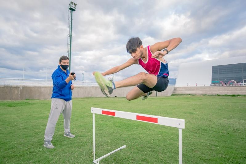 Páez participó del test de control de la Federación Atlética Metropolitana