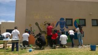 Los murales de la EPD Newton, un ejemplo para las escuelas del mundo