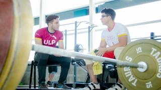 Carlos Aguilera, pesista del Campus de la ULP, es campeón nacional U-20
