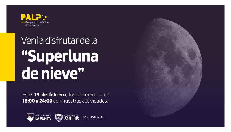 Este martes desde el PALP se podrá observar la Superluna