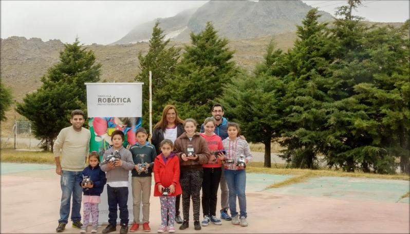 Los robots de la ULP visitaron escuelas especiales y rurales