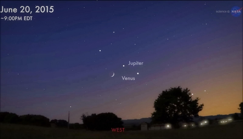 Show astronómico: la Luna, Júpiter y Venus se reunirán en el cielo