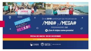 Con 4 viajes como premio, continúan las iniciativas de los Mini y Mega Programadores