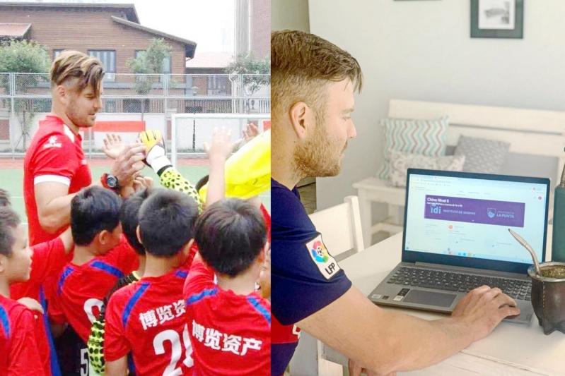 Mientras espera su visado para volver a China, estudia en el Instituto de Idiomas