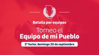 Este domingo se juega la segunda fecha del Torneo El Equipo de Mi Pueblo