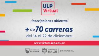 ULP Virtual: las inscripciones están habilitadas hasta el 22 de diciembre