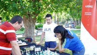 Guadalupe Besso, presente en las actividades de Ajedrez de Verano