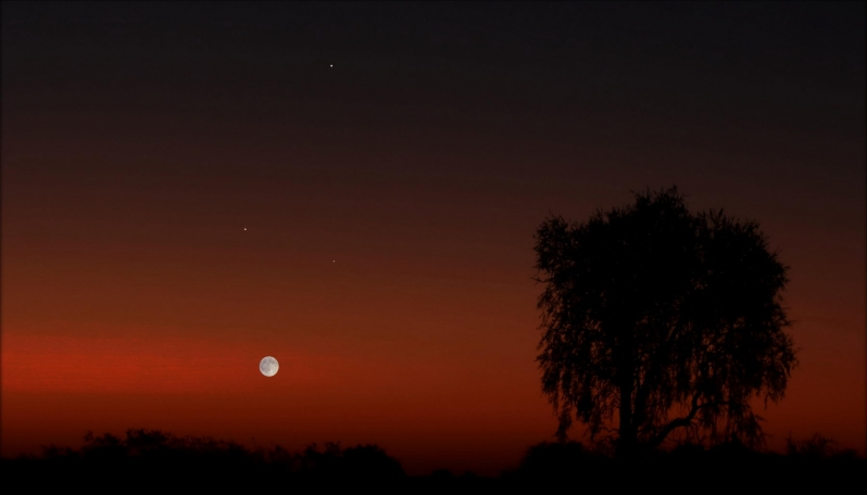 La Luna desfilará por los planetas