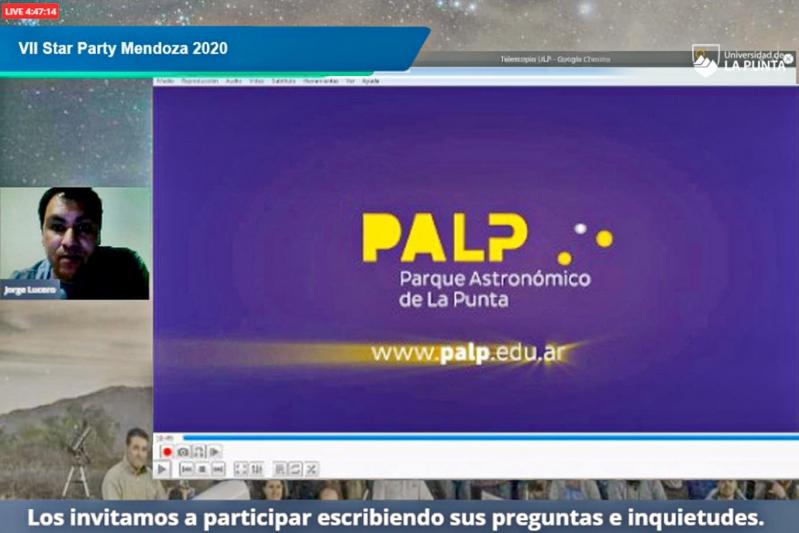 El Parque Astronómico participó del VII Star Party Mendoza 2020