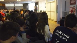 A sala llena, se desarrolló el 1° Congreso  de Robótica e Impresión 3D en la ULP