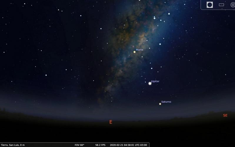 Se podrán ver en línea los planetas de Marte, Júpiter y Saturno con la Tierra