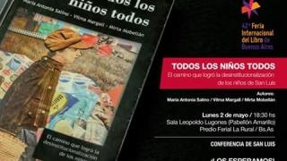"""""""Todos los niños todos"""" será presentado en la  Feria Internacional del Libro"""