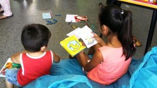 """Los niños del Centro de Salud """"Las Américas""""  disfrutaron de un día de lectura y diversión"""
