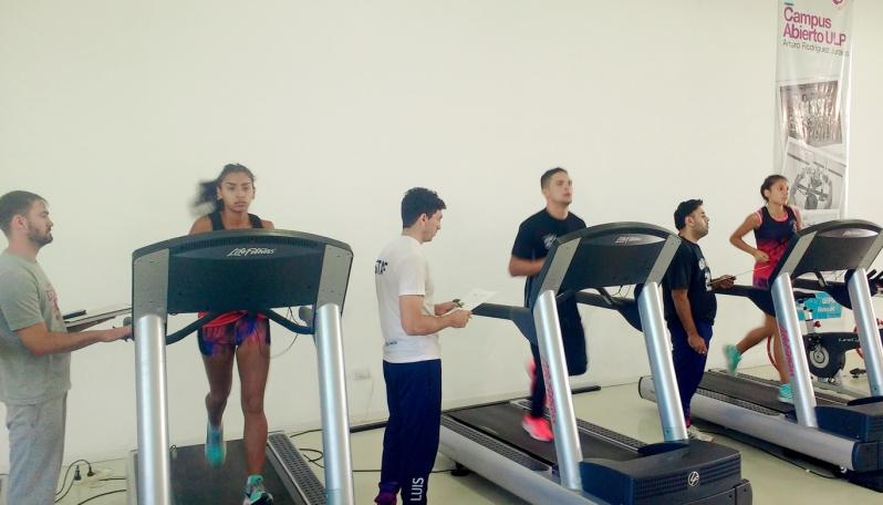 La Agrupación de atletismo Los Linces se realizó testeos en el Campus