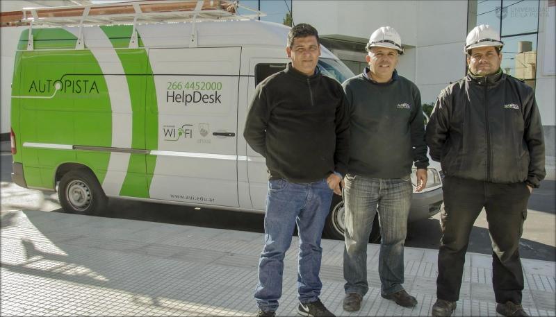 Se reemplazó el tendido de fibra dañado en cercanías a Concarán