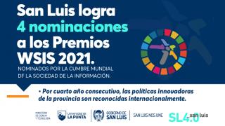 Cuatro políticas tecnológicas de la Provincia fueron nominadas a los WSIS Prizes 2021
