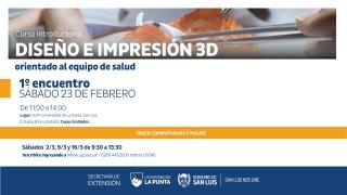 Este sábado inicia la capacitación en impresión 3D para profesionales de la Salud