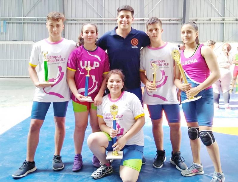 Sobresalieron seis luchadores del Campus de la ULP