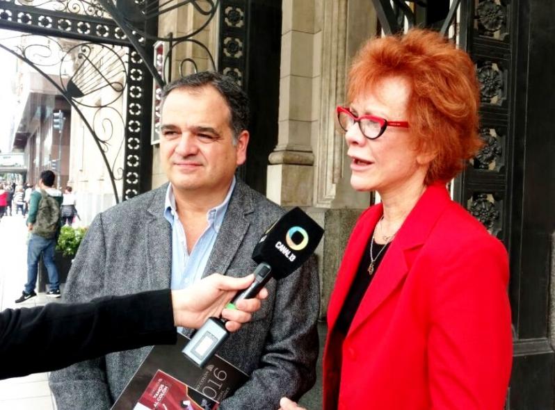 Salino y Bañuelos se reunieron con la coordinadora artística del Teatro Colón