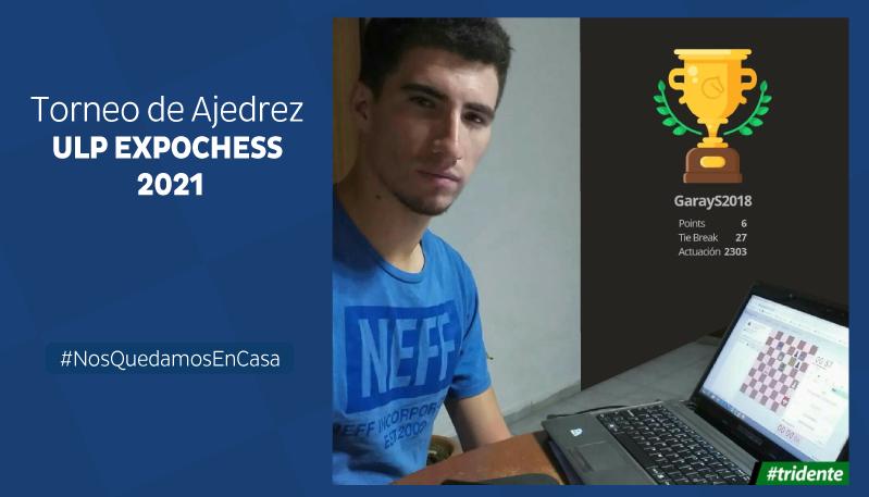 Un futbolista ganó el Torneo de Ajedrez ULP EXPOCHESS 2021