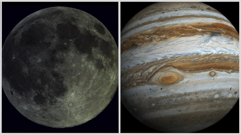 La Luna en conjunción con Júpiter: un fenómeno que iluminará el cielo de San Luis