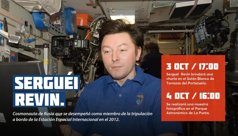 El cosmonauta ruso Sergei Revin visitará la provincia a comienzos de octubre