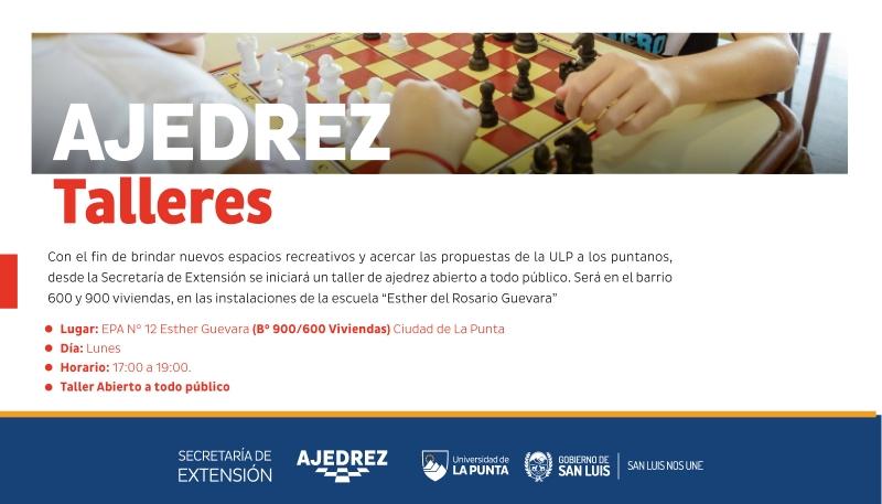 La Punta tendrá un nuevo espacio de Ajedrez destinado a toda la comunidad